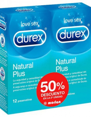 DUREX NATURAL PLUS duplo 12 +12