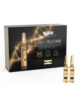 Isdin Flavo-C Melatonin Serum 30 Ampollas + Regalo