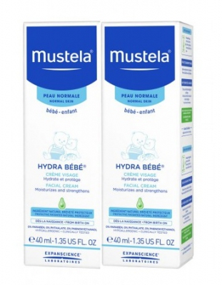 Mustela Hydra Bebe Facial 40ml + 40ml