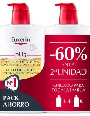 EUCERIN PH-5 OLEOGEL DE DUCHA DUPLO 2 X 1 L
