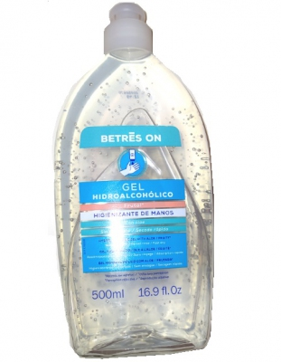 GEL HIDROALCOHOLICO BETRES ON FRUTAL 500 ml