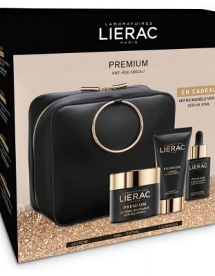 Cofre Lierac Premium Voluptuosa 50 ml + Serum 30 ml + Mascarilla Suprema 75 ml con Neceser pack oferta