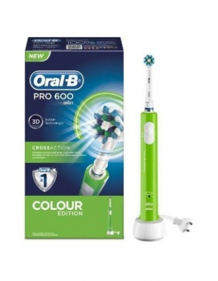 CEPILLO ELECTRICO ORAL B Pro600 CROSS ACTION RECARGABLE  VERDE